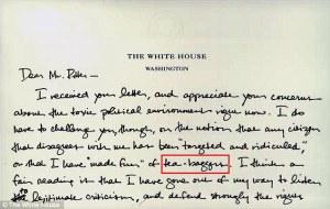 obama teabagger letter